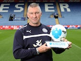 Nigel Pearson poses with his manager of the month award for April 2015