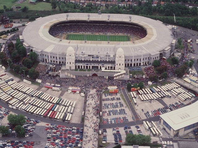 A general view of the old Wembley Stadium, taken in 1995