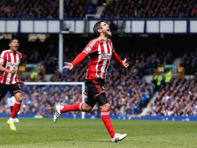 Danny Graham celebrates scoring for Sunderland on May 9, 2015