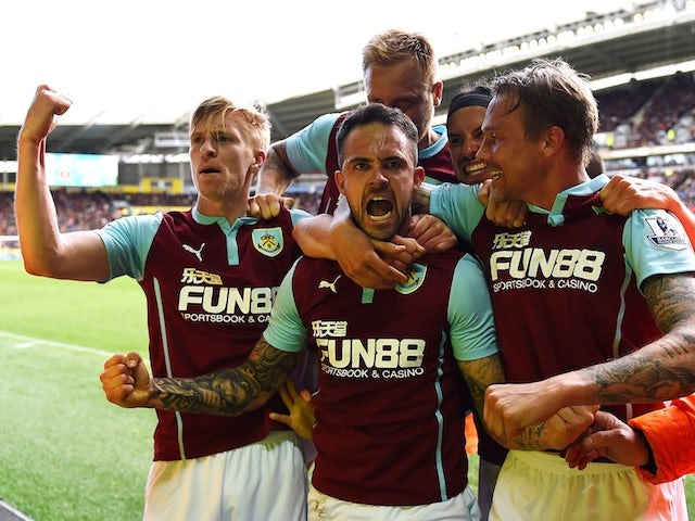 Danny Ings celebrates scoring for Burnley on May 9, 2015