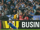 FC Dnipro's Yevhen Seleznyov celebrates after scoring a goal during the UEFA Europa League semi-final second leg football match FC Dnipro vs SSC Napoli, on May 14, 2015