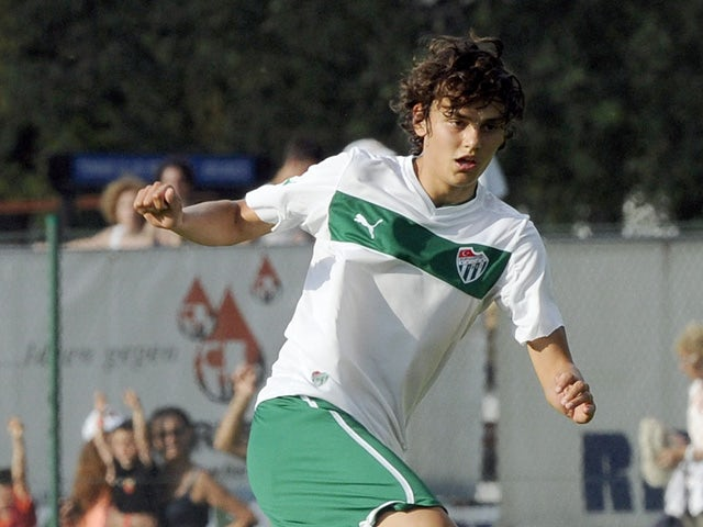 Enes Unal of Bursaspor Kulubu in action during the pre-season friendly match between AS Roma and Bursaspor Kulubu on July 21, 2013