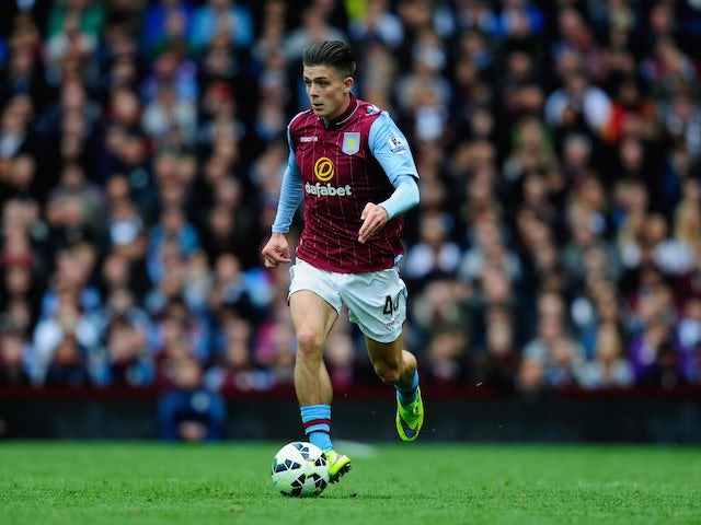 Jack Grealish in action for Aston Villa on May 9, 2015