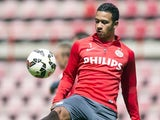 Memphis Depay during an Eindhoven training session on May 8, 2015