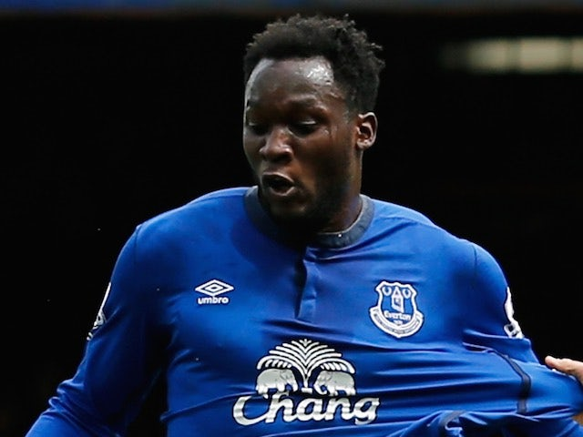Romelu Lukaku in action for Everton on May 9, 2015