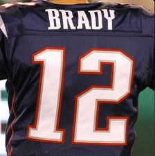 New England Patriots' Twitter avatar, displaying Tom Brady's #12 jersey. Taken from Twitter on May 12, 2015