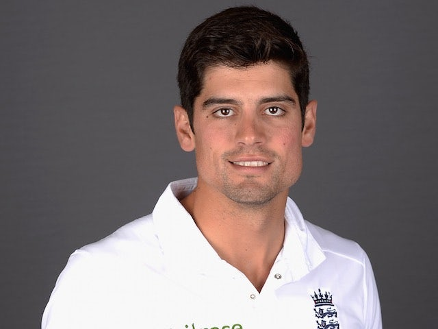 Alastair Cook poses for an England portrait session on May 19, 2015