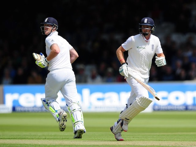 Joe Root and Ben Stokes in action for England on day one of the first Test with New Zealand on May 21, 2015
