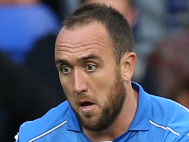 Lee Croft of St Johnstone controls the ball during the UEFA Europa League Third Qualifying Round, First Leg match between St Johnstone and Spartak Trnava, at McDiarmid Park on July 31, 2014