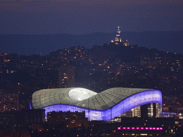Velodrome Stadium at sunset in Marseille, taken on November 2, 2014
