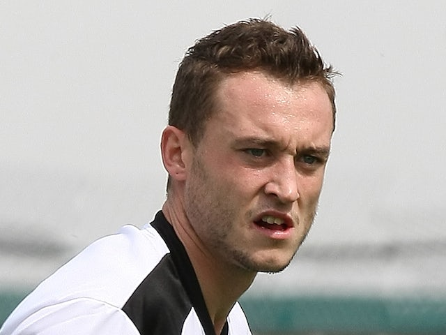 Ricky Miller of Corby Town in action during the Pre- Season Friendly between Corby Town and Northampton Town at Steel Park on July 21, 2012