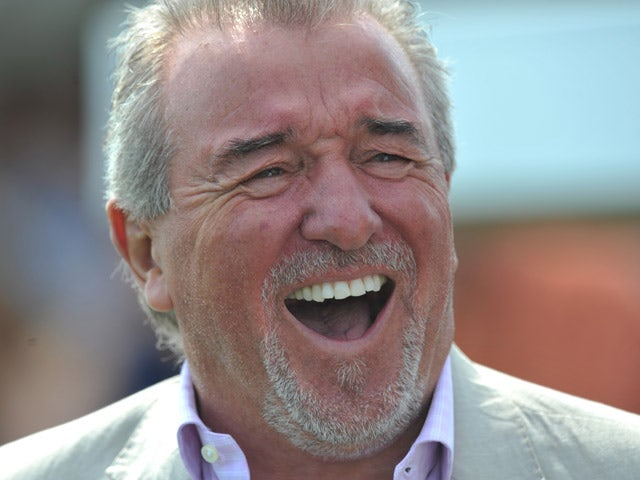 Terry Venables, technical advisor of Wembley FC just prior to a Budweiser FA Cup Extra Preliminary Round at Vale Farm Stadium, on August 11, 2012