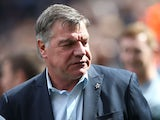 West Ham United's English manager Sam Allardyce looks on ahead of the English Premier League football match between Newcastle United and West Ham United at St James Park, Newcastle-Upon-Tyne, north east England on May 24, 2015