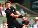 Andy Murray in action in round two of the French Open on May 28, 2015