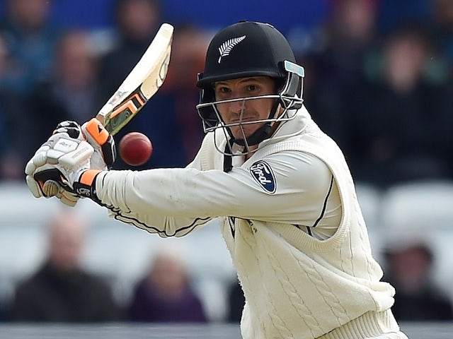 New Zealand's BJ Watling bats on the third day of the second cricket test match between England and New Zealand at Headingley in Leeds, northern England, on May 31, 2015