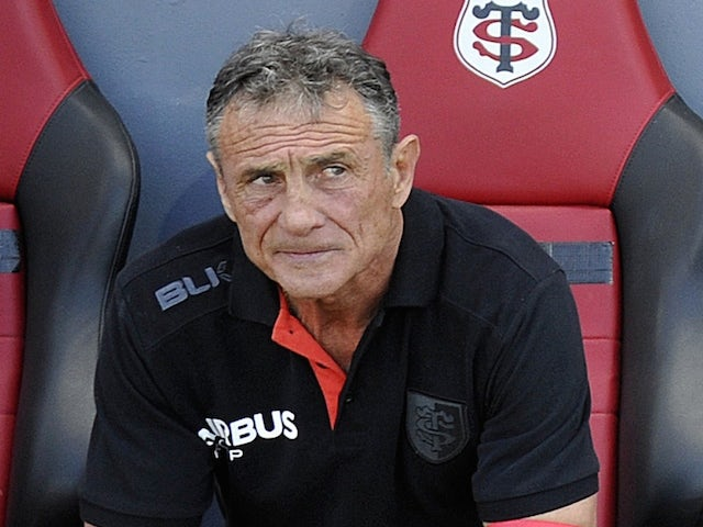 Toulouse's French General Manager Guy Noves looks on before the French Top 14 rugby union match between Toulouse and Oyonnax on May 30, 2015