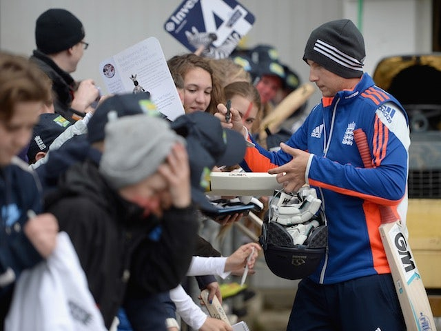 England's Joe Root arrives for day one of the Second Test with New Zealand on May 29, 2015