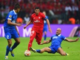 Jose Antonio Reyes of Sevilla is tackled by Jaba Kankava of Dnipro during the UEFA Europa League Final match between FC Dnipro Dnipropetrovsk and FC Sevilla on May 27, 2015
