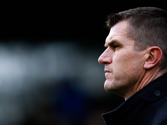 Marinus Dijkhuizen looks on during the Dutch Eredivisie match between S.B.V. Excelsior Rotterdam and Ajax Amsterdam held at the Woudestein Stadium on December 21, 2014