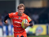 Tigers player Matthew Tait in action during the Aviva Premiership semi final match between Bath Rugby and Leicester Tigers at Recreation Ground on May 23, 2015