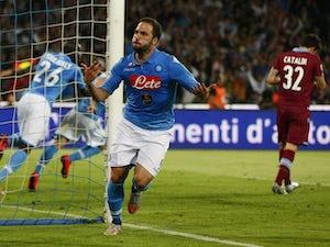 Team News: Gonzalo Higuain starts for Napoli