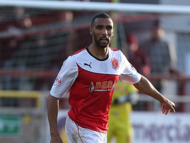 Nathan Pond of Fleetwood Town in action during the Sky Bet League Two match between Fleetwood Town and Northampton Town at Highbury Stadium on February 15, 2014