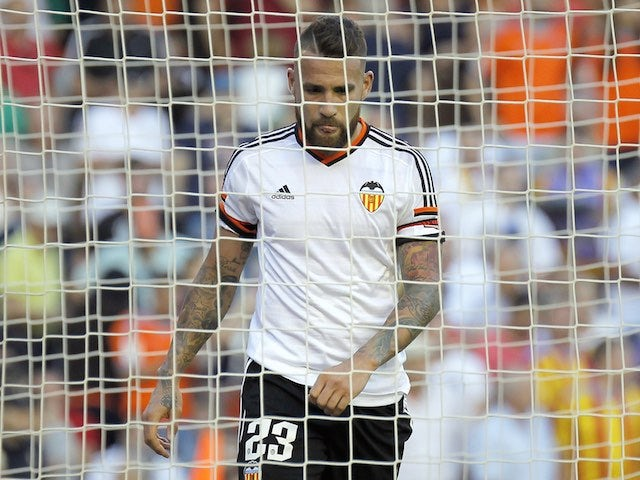 Valencia defender Nicolas Otamendi during the La Liga match against Celta Vigo on May 17, 2015