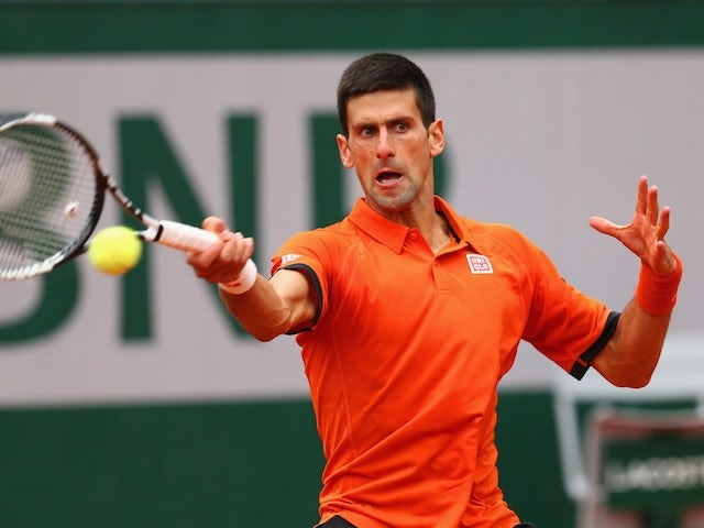 Novak Djokovic in action on day three of the French Open on May 26, 2015