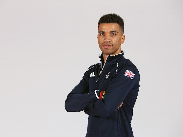 Sam Maxwell at Team GB kitting out ahead of the European Games on May 28, 2015