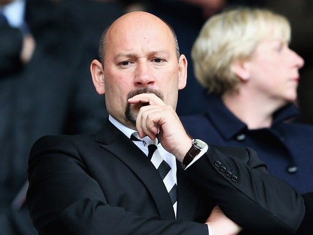 Sam Rush, President and Chief Executive of Derby County FC looks on during the Sky Bet Championship match between Derby County and Reading at iPro Stadium on May 2, 2015