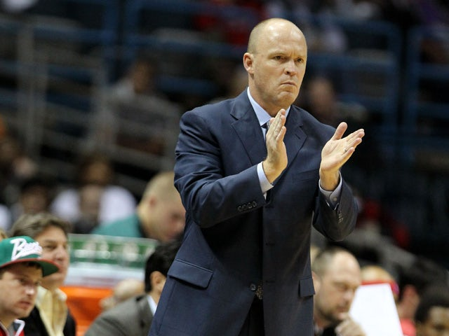 Scott Skiles of the Milwaukee Bucks during the game against the Cleveland Cavaliers at Bradley Center on November 3, 2012