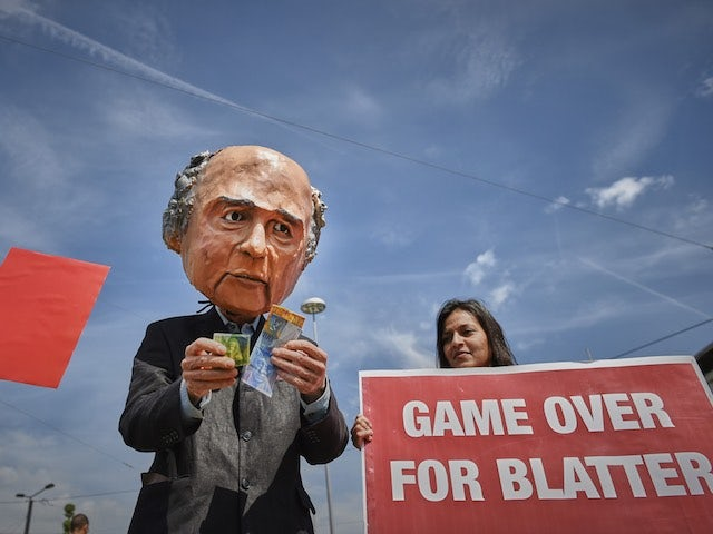 Sepp Blatter sees red at the 65th FIFA Congress on May 29, 2015