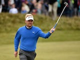 Soren Kjeldsen of Denmark on the 18th green during the Third Round of the Dubai Duty Free Irish Open Hosted by the Rory Foundation at Royal County Down Golf Club on May 30, 2015