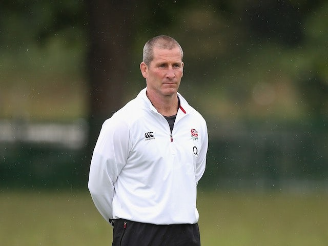 England head coach Stuart Lancaster looks on during a training session on May 29, 2015
