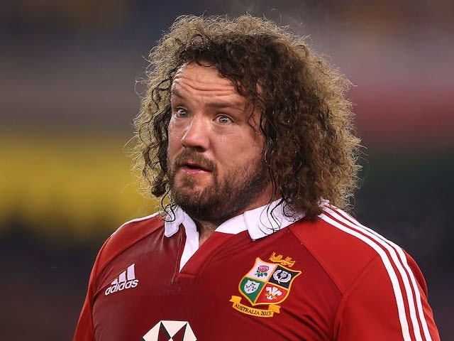 Adam Jones of the Lions looks on during game two of the International Test Series between the Australian Wallabies and the British & Irish Lions at Etihad Stadium on June 29, 2013