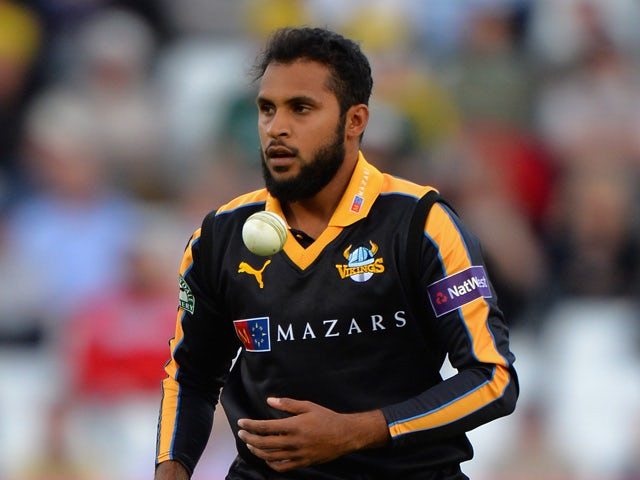 Adil Rashid of Yorkshire Vikings during the NatWest T20 Blast between Nottingham Outlaws and Yorkshire Vikings at Trent Bridge on May 22, 2015