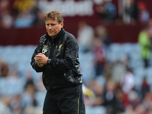 Liverpool coach Colin Pascoe looks on before the Barclays Premier League match between Aston Villa and Liverpool at Villa Park on August 24, 2013