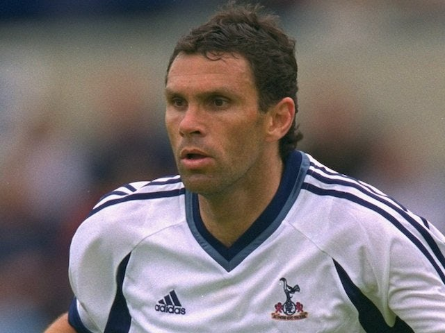 21 Jul 2001: Gustavo Poyet of Tottenham Hotspur in action during the pre-season friendly match against Wycombe Wanderers played at Adams Park, in Wycombe, England
