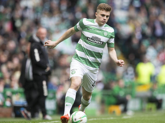 James Forrest in action for Celtic at the Scottish Premiership Match between Celtic and Inverness Caley Thistle at Celtic Park on May 24, 2015