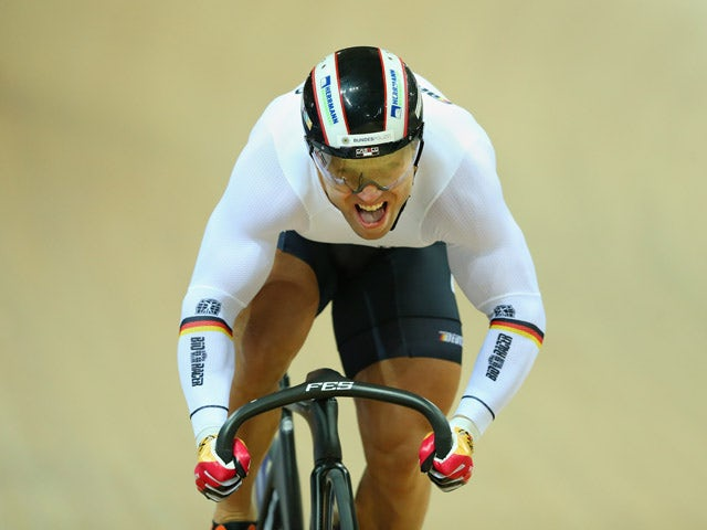 Robert Foerstemann of Germany competes in the Men's Sprint Qualifying during Day Four of the UCI Track Cycling World Championships at the National Velodrome on February 21, 2015