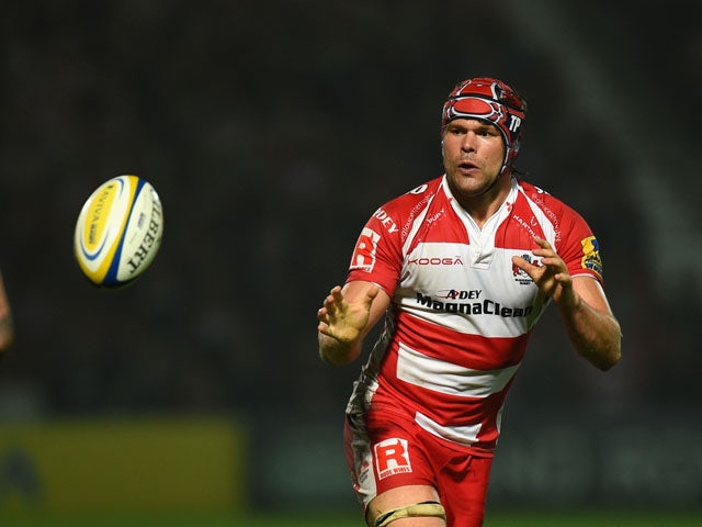 Gloucester forward Tom Palmer in action during the Aviva Premiership match between Gloucester Rugby and Exeter Chiefs at Kingsholm Stadium on September 19, 2014
