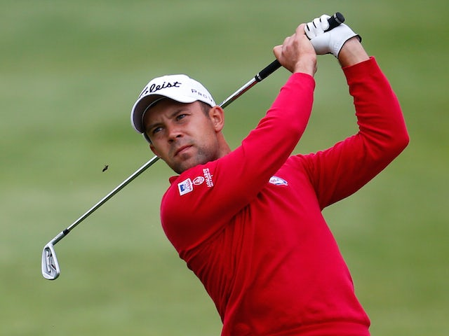 Andrey Pavlov of Russia plays a shot during the Lyoness Open day one at the Diamond Country Club on June 5, 2014