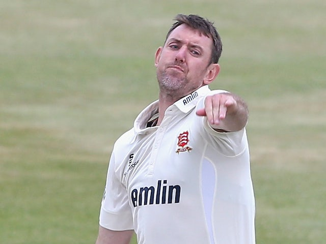 David Masters of Essex bowls during the LV County Championship division two match between Northamptonshire and Essex the County Ground on June 8, 2015