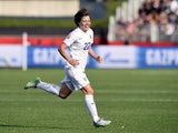 England's forward Fran Kirby reacts after scoring a goal during a Group F match at the 2015 FIFA Women's World Cup between England and Mexico at Moncton Stadium, New Brunswick on June 13, 2015