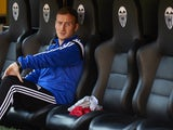 Valencia CF assistant coach Ian Cathro looks on prior to the La Liga match between Valencia CF and Club Atletico de Madrid at Estadi de Mestalla on October 4, 2014