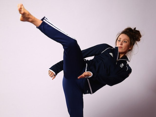 Team GB taekwondo athlete Jade Jones at kitting out for the European Games in May 2015
