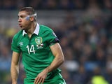 Jonathan Walters of Republic of Ireland in action during the Euro 2016 qualifying football match between Republic of Ireland and Polandat Aviva Stadium on March 29, 2015