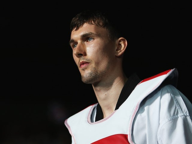 Team GB taekwondo athlete Martin Stamper competing at the Olympics on August 9, 2012