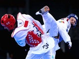Aaron Cook in action during his quarter-final defeat to Portugal's Julio Ferreira at the European Games in Baku on June 18, 2015