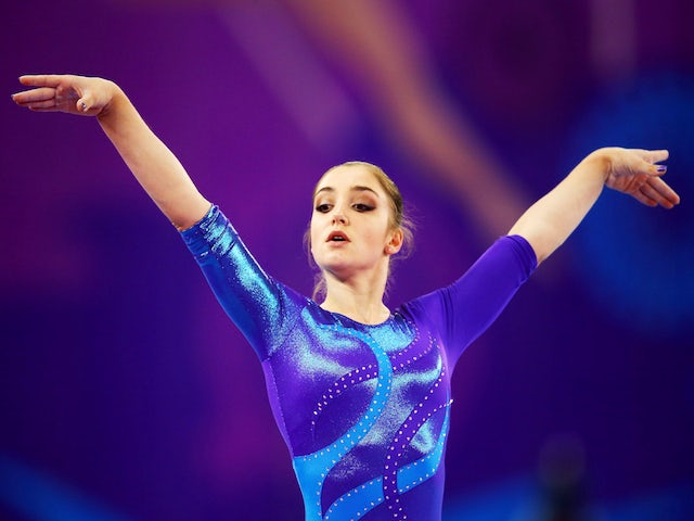 Gold medalist Aliya Mustafina of Russia competes on the Floor in the Women's Individual All-Around final on day six of the Baku 2015 European Games at National Gymnastics Arena on June 18, 2015